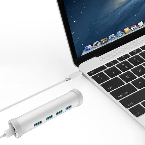 USB-C to 4-Port USB 3.0 Aluminum Hub china manufacturer firefly 7
