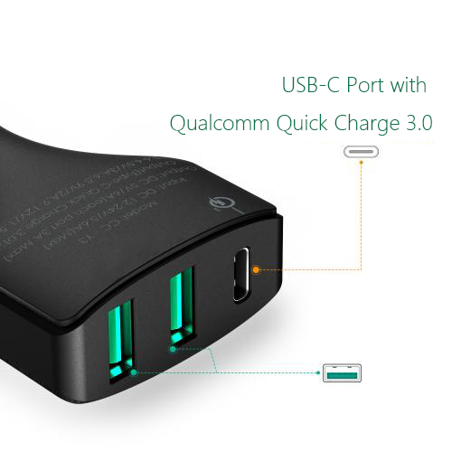 USB-C type c car charger firefly china factory DC-33 4