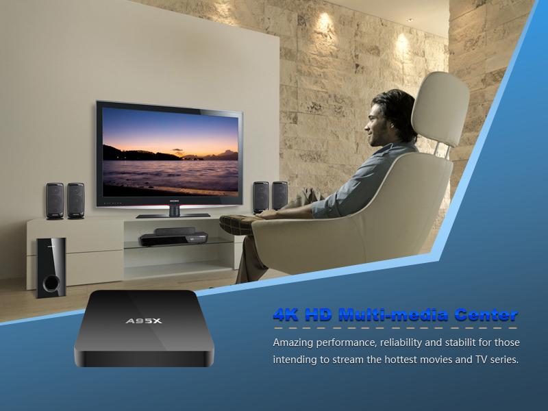 Firefly box A95X Amlogic S905 Quad core Cortex A53 2.0GHz 64bit 3