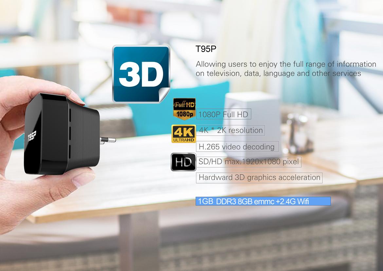 T95P Mini TV BOX T95P Mini Media center Amlogic S905X RK3229 factory manufacturer yatay 3